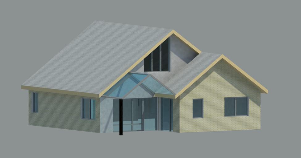 Vrijstaande woning 3D